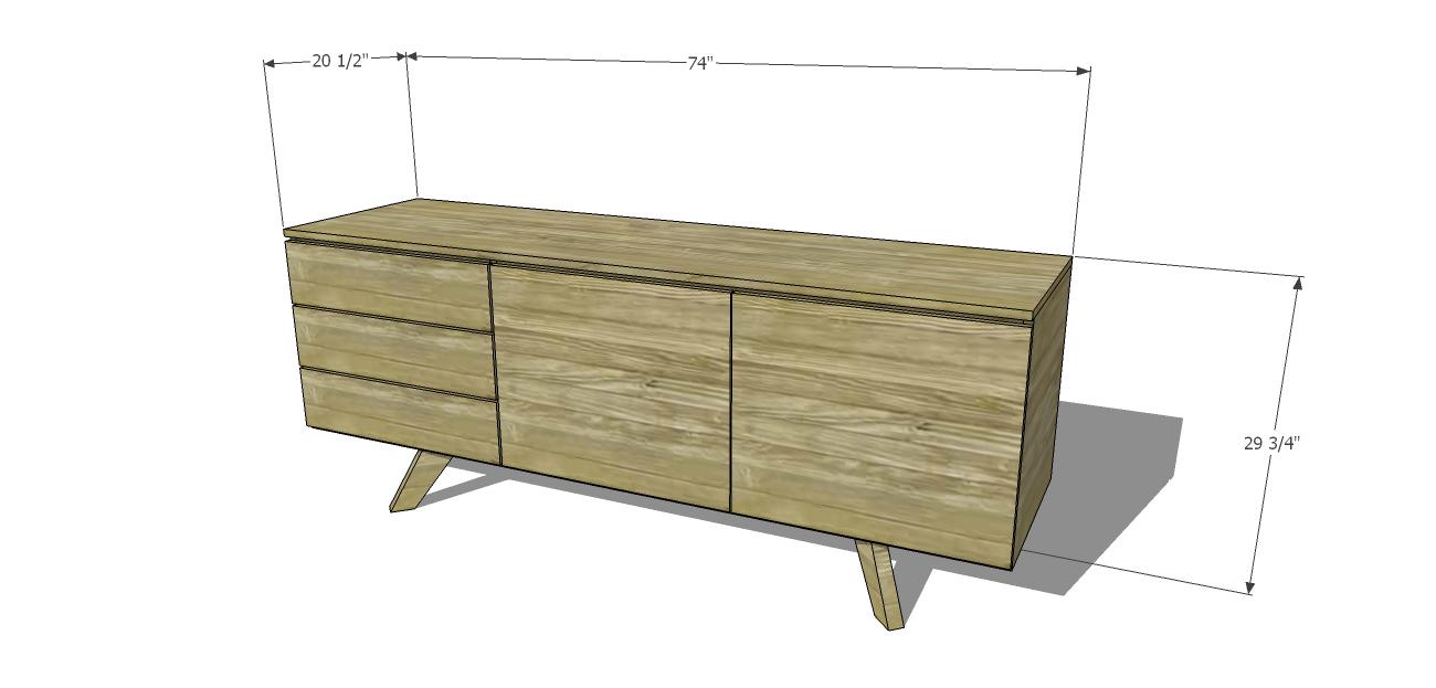 Credenza Free Diy Furniture Plans Build Mid Century Modern