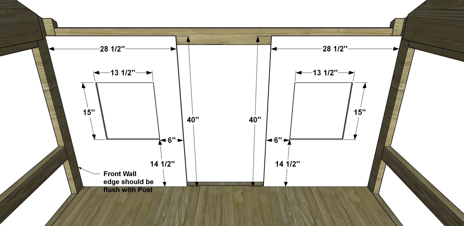 Free Diy Furniture Plans How To Build A Full Sized Cabin Loft Bed The Design Confidential