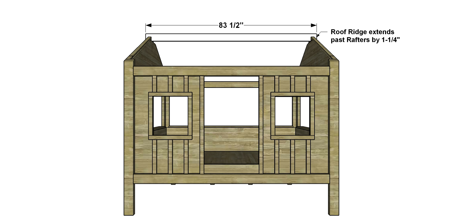 Free diy furniture plans how to build a full sized for Cabin bed plans