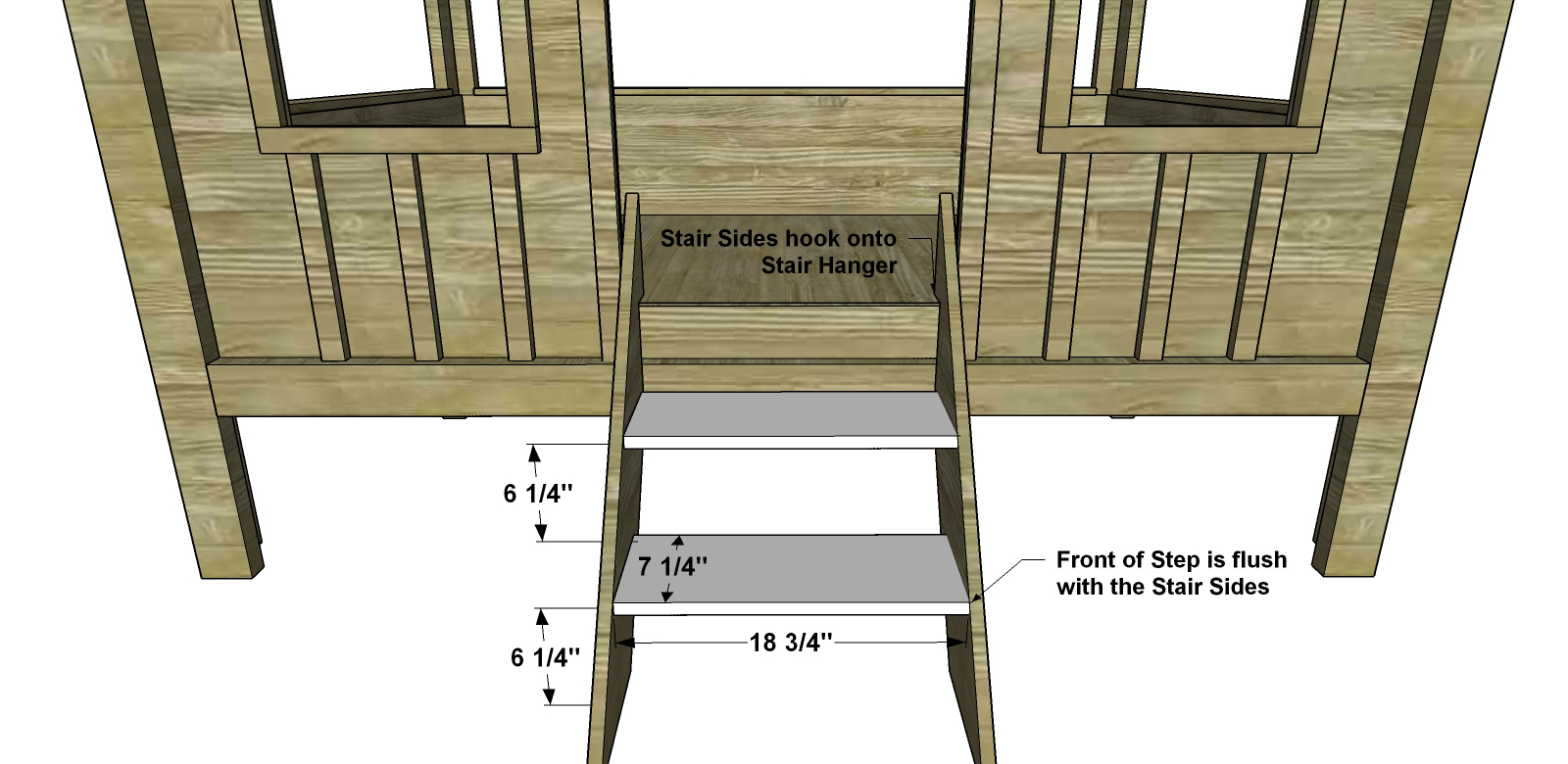 Best Free DIY Furniture Plans How to Build a Full Sized Cabin Loft Bed The Design Confidential
