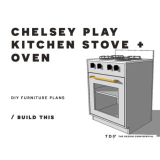 You Can Build This! Easy DIY Furniture Plans from The Design Confidential with Complete Instructions on How to Build a Chelsey Play Stove and Oven via @thedesconf