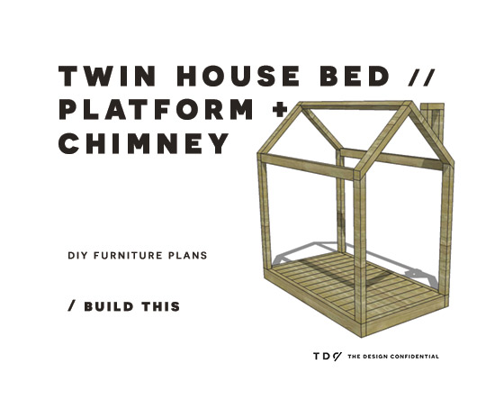 Diy Furniture Plans How To Build A Twin House Bed With