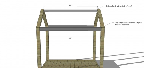 Free diy furniture plans how to build a toddler house for House frame floor bed plans