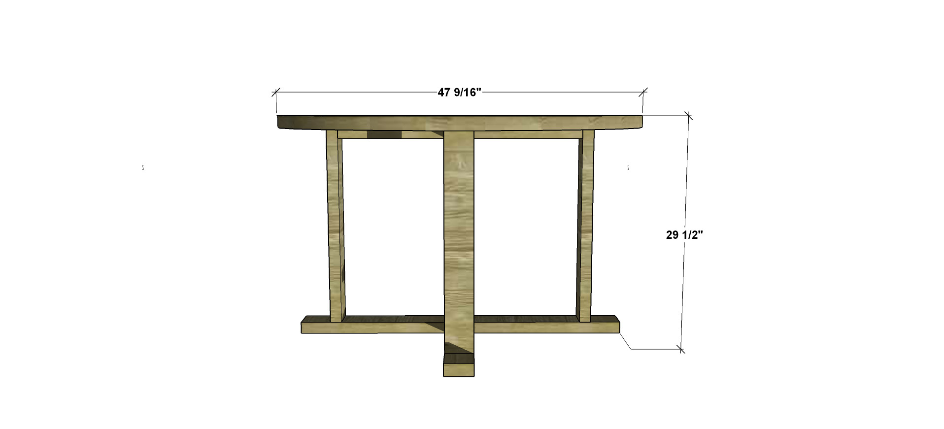 Free diy furniture plans how to build an indoor outdoor for Outdoor furniture dimensions