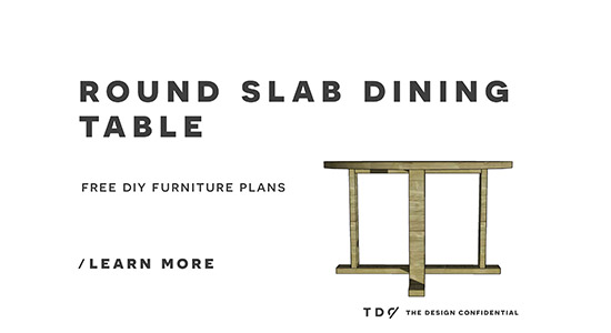 Free DIY Furniture Plans How to Build an Indoor Outdoor Slab