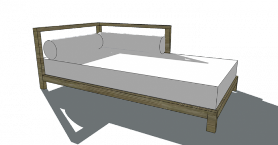 Diy Inspiration Daybeds: Free Woodworking Plans To Build A West Elm Inspired 2x2