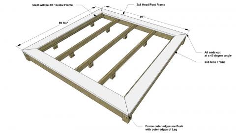 Fabulous Free DIY Platform Bed Plans