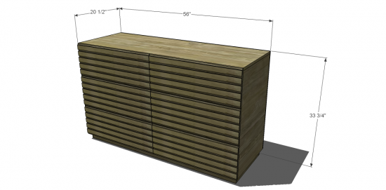 Free Diy Furniture Plans To Build A West Elm Inspired Stria 6 Drawer