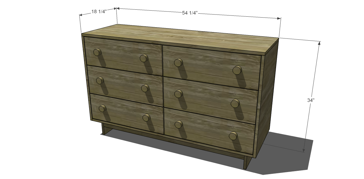 Dimensions For Free Diy Furniture Plans To Build An Emmerson 6 Drawer Dresser