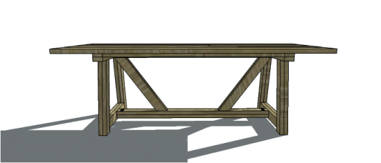 Beautiful Free DIY Furniture Plans to Build an Restoration Hardware Inspired u Provence Beam Dining Table The Design Confidential