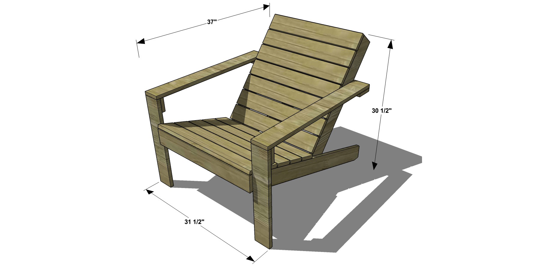Adirondack Chair Woodworking Plans With Simple Minimalist