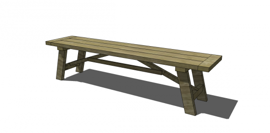 Dining Table For 20 Dimensions: Free DIY Furniture Plans To Build A Wooden Truss Dining