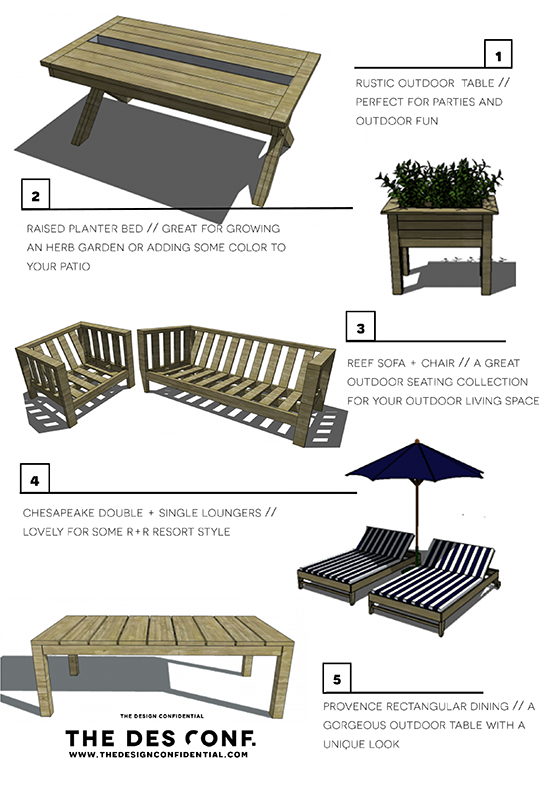 Top 10 Most Popular DIY Outdoor Furniture Plans The Design Confidential