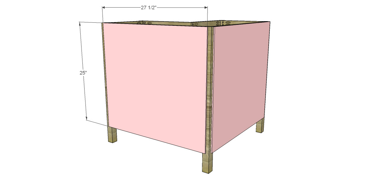 Bookcase Back for The Design Confidential for Free DIY Furniture Plans to Build a Pottery Barn Kids Inspired Cameron Corner Bookcase