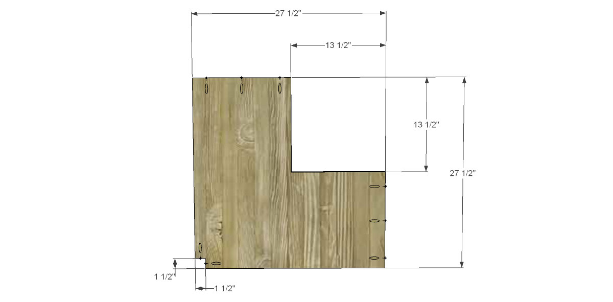Bookcase Shelf Diagram for The Design Confidential for Free DIY Furniture Plans to Build a Pottery Barn Kids Inspired Cameron Corner Bookcase