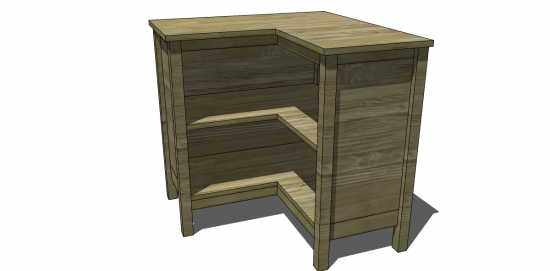 The Design Confidential for Free DIY Furniture Plans to Build a Pottery Barn Kids Inspired Cameron Corner Bookcase