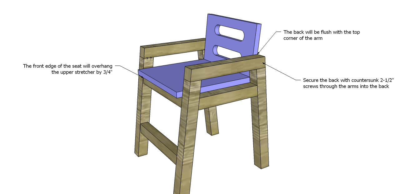 Free Diy Furniture Plans How To Build A Children S Two Tone Chair