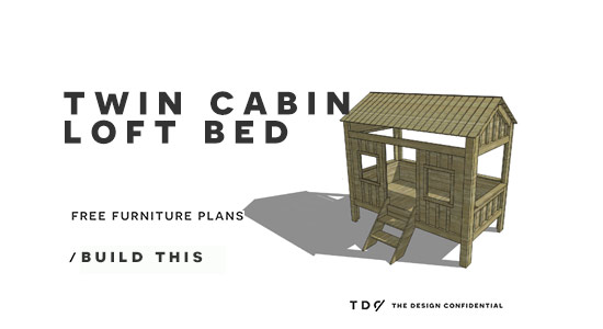 Free diy furniture plans how to build a twin sized for Furniture 123 cabin bed