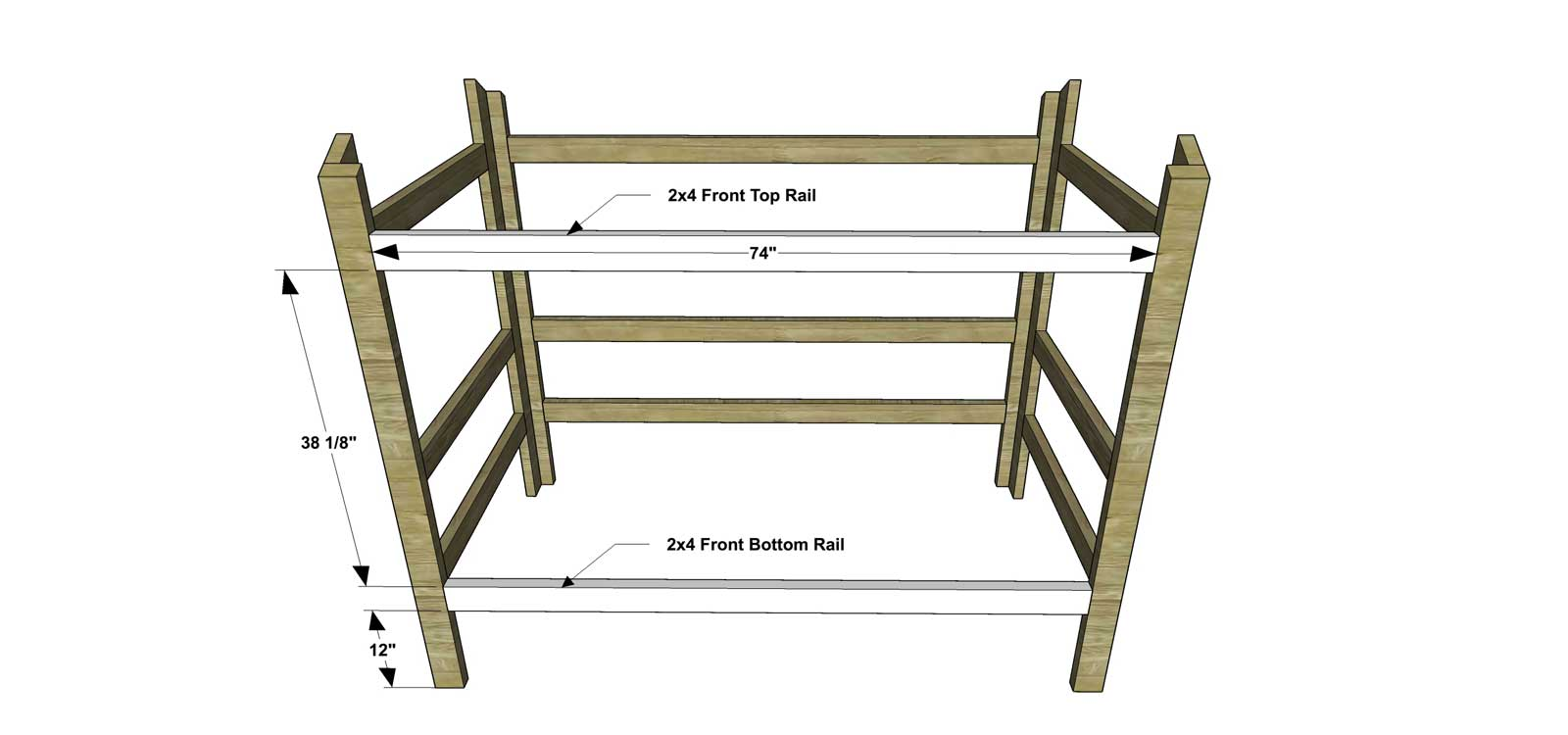 Lovely Free DIY Furniture Plans How to Build a Twin Sized Cabin Loft Bed The Design Confidential