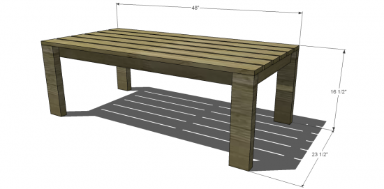 Free DIY Furniture Plans To Build A Crate Barrel Inspired Reef - 2x4 coffee table plans