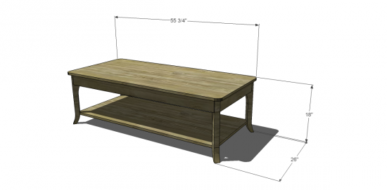 coffee table dimensions dimensions for this project free diy furniture plans to build chloe coffee table the design