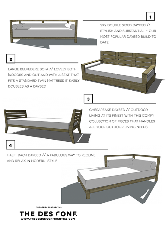 Four diy outdoor daybeds to liven up your outdoor living for Diy outdoor daybed plans