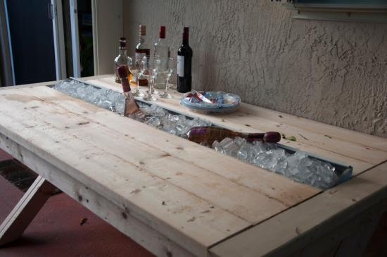 Exceptional Builders Showcase: Rustic Outdoor Table With Cooling Tray   The Design  Confidential