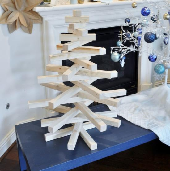 diy modern wooden christmas tree the design confidential. Black Bedroom Furniture Sets. Home Design Ideas