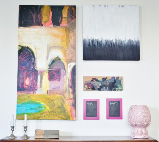 A quick and easy diy abstract art painting and gallery for Diy watercolor abstract art