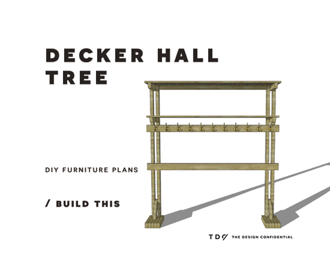 You Can Build This! The Design Confidential Free DIY Furniture Plans to Build a Decker Hall Tree