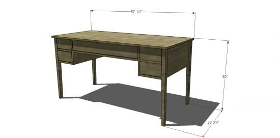 Ballard Design Desk free diy furniture plans to build a ballard designs inspired