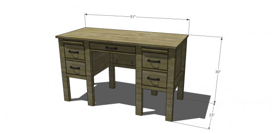 Dimensions for The Design Confidential Free DIY Furniture Plans to Build a RH Baby & Child Inspired Finn Desk