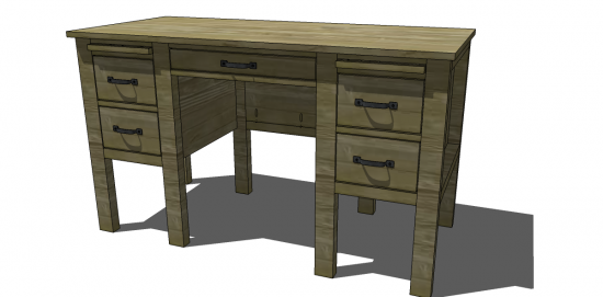 Free DIY Furniture Plans to Build a RH Baby & Child Inspired Finn Desk -  The Design Confidential