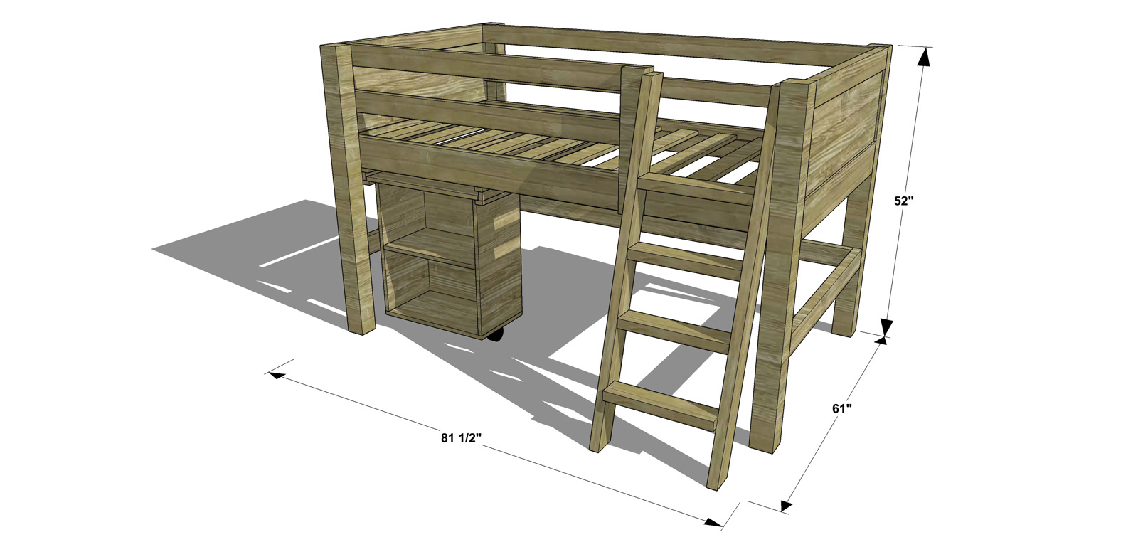 Free Diy Furniture Plans How To Build A Twin Sized Low