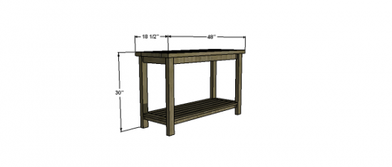 Free Woodworking Plans To Build A PotteryBarn Inspired Chesapeake - How to build a console table