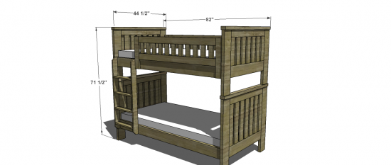 free woodworking plans to build an rh inspired kenwood twin over