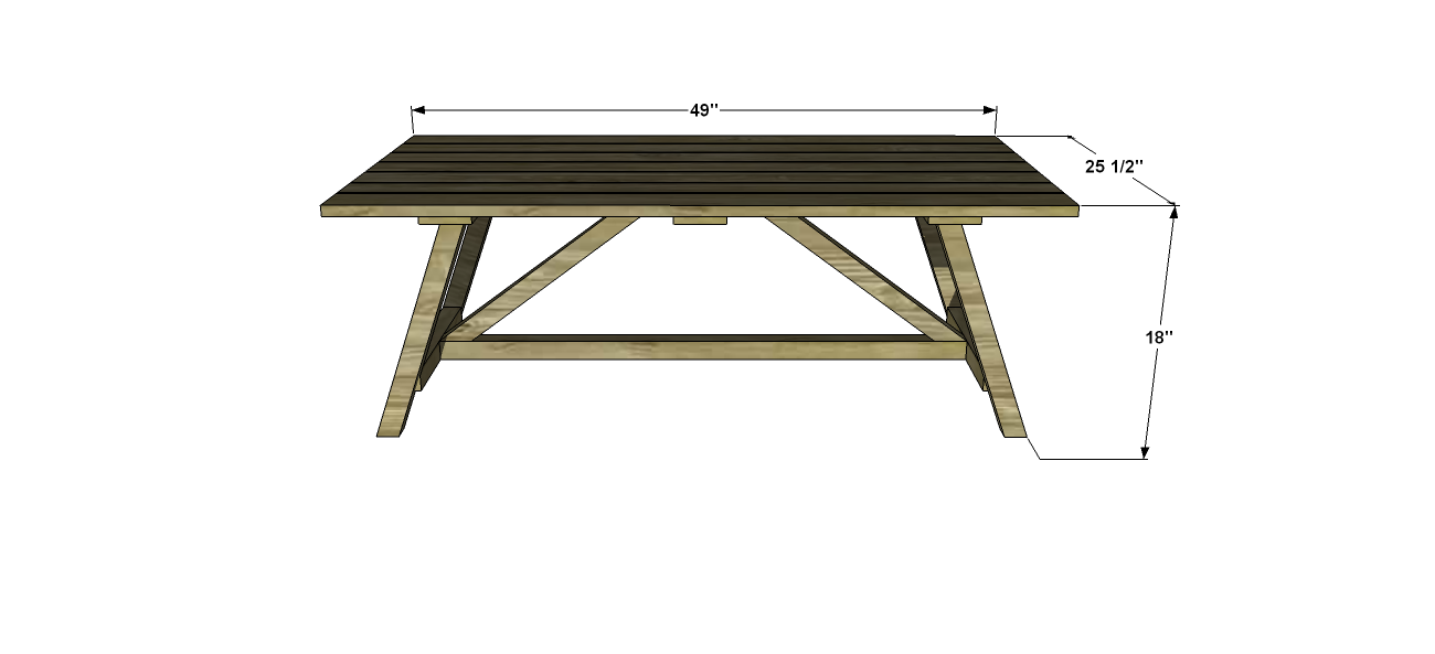 You Can Build This! Easy DIY Furniture Plans from The Design Confidential with Complete Instructions on How to Build a Crosby Outdoor Coffee Table via @thedesconf