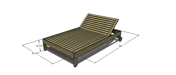 You Can Build This! The Design Confidential DIY Furniture Plans // How to Build a Potterybarn Inspired Chesapeake Double Lounger with Cushion
