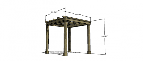 Free Woodworking Plans To Build A Modern Classic Pergola