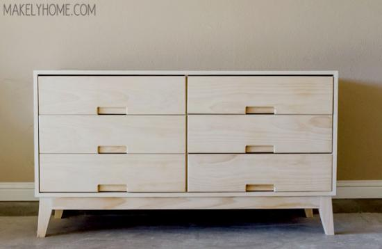 Free DIY Furniture Plans: How To Build A Steppe 6 Drawer Dresser   The  Design Confidential