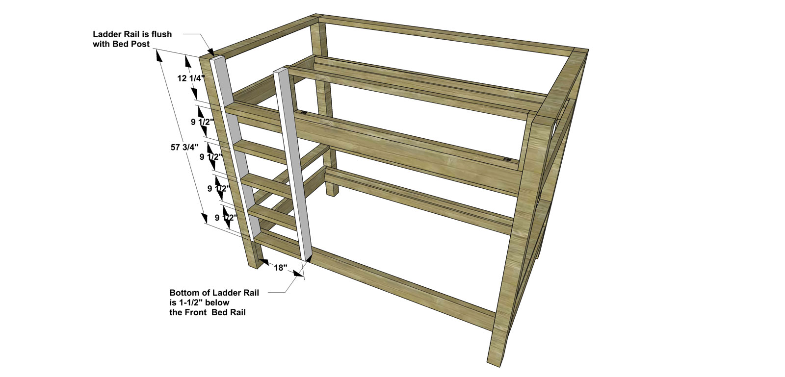 Free Diy Furniture Plans How To Build A Duet Bunk Bed The