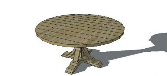 Free Furniture Plans To Build A Round Provence Beam Table The Design Confid