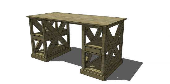 free diy furniture plans to build a ballard designs inspired shelf supported diy desk - Desk Design Plans