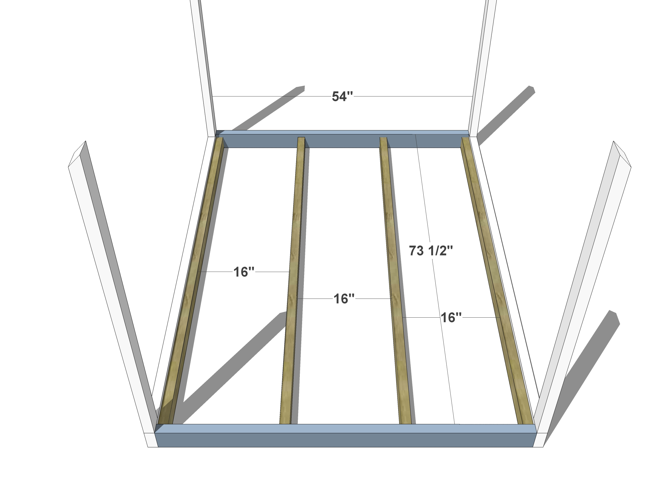 Diy furniture plans how to build a full sized house bed for House frame floor bed plans
