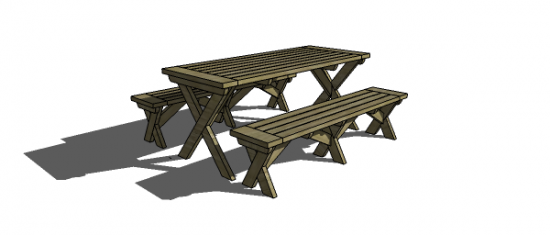 Free DIY Furniture Plans To Build A PotteryBarn Inspired Chesapeake Picnic Be