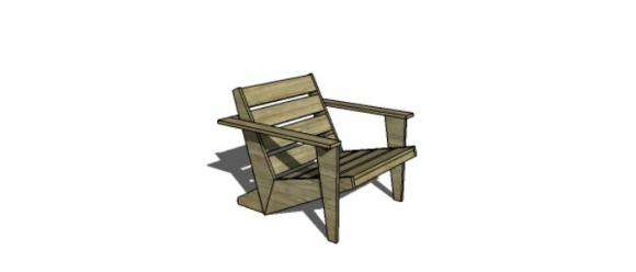 Modern Furniture Woodworking Plans free woodworking plans to build a cb2 inspired sawyer adirondack