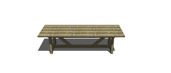 Free DIY Furniture Plans To Build A Restoration Hardware Inspired Provence Beam Dining With 4x4s
