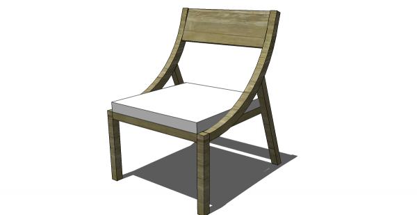 Free DIY Furniture Plans To Build A West Elm Inspired Arc Chair