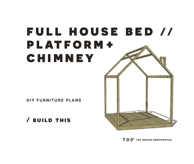 Diy Furniture Plans How To Build A Full Sized House Bed