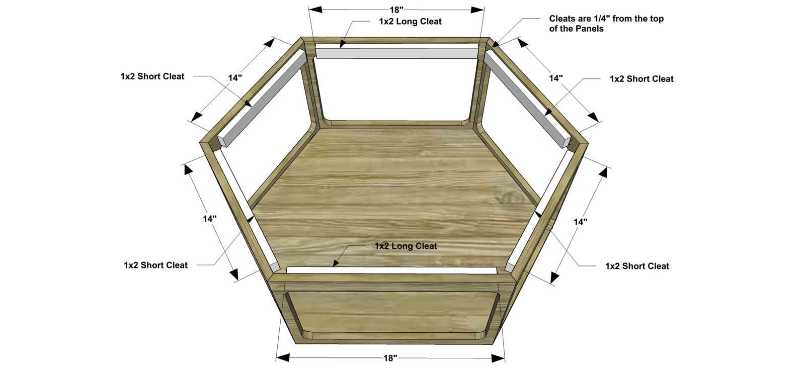 Free DIY Furniture Plans // How to Build a Hex Wood ...